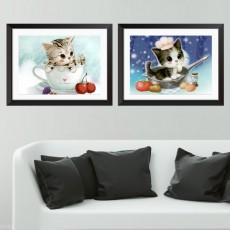 고양이 2종 보석십자수