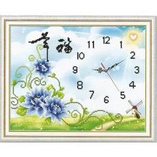 파란장미시계
