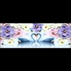 꽃과하트백조